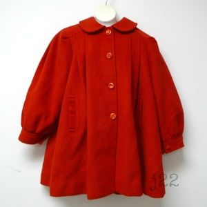 VTG Lienwei red wool coat